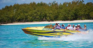 Speed Boat Trip To Ile Aux Cerfs Island